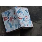 【Original book cover『 cat & book 』】KOTAMA ブックカバー ネコノツメ限定 作家モノ オリジナルステッカー付