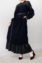 LOKITHO /  FLOCKY LACE LAYERED SHIRT DRESS