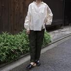 YAECA / ヤエカ WRITE ギャザーブラウス natural  #91111