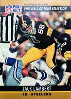 NFLカード 90PROSET JACK LAMBERT #027 STEELERS