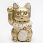 イニシャルキャット フリルカラー / M-Size / 金(Gold)