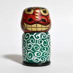 獅子舞いこけし 約3寸 約8.3cm 志田菊宏 工人(蔵王高湯系)#0014