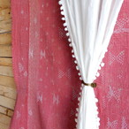 TOPANGA INTERIOR COTTON VOILE POMPOM CURTAIN コットンボイルポンポンカーテン W105xH200cm