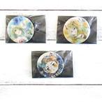 【嶋波誌麻】オリジナルイラスト缶バッジ3点セット/缶バッジ