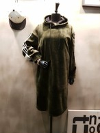 ベルベットサイドラインワンピース ワンピース 韓国ファッション