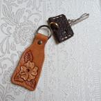 SALE! 革好きさんのためのカービングのキーホルダーNo.15(送料無料)