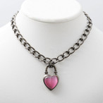Never End  Chain Choker/Necklace Silver/Pink #1755 ネバー・エンド チョーカー/シルバー/ピンク