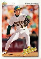 MLBカード 92UPPERDECK Steve Chitren #471 ATHLETICS