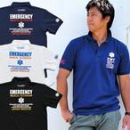 GUARD ガード EMTデザイン 鹿の子ポロシャツ/ライフガード 医療チームのユニフォームとしても人気 pol-161