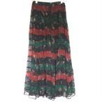 Papillon Floral Rayon Maxi Skirt
