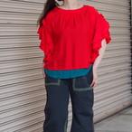 【hippiness】cupro flare sleeve blouse/【ヒッピネス】キュプラ フレア スリーブ ブラウス