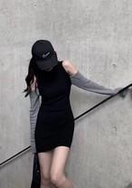 エンフォルドショルダーカットニットワンピース ニット ワンピース オフショルダー 韓国ファッション