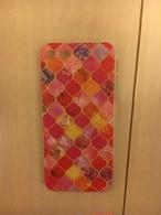 モロッコ柄 iPhone7 赤ピンク