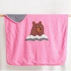 オーガニックコットンブランケット BEAR  ピンク