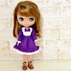 22cmドールサイズ 紫とピンクのワンピース(リカちゃん、ブライスなど)