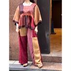 【RehersalL】 pajamas patch square neck blouse(sunset B) /【リハーズオール】パジャマ パッチスクエアネックブラウス(サンセットB)