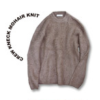 Crew kneck mohair knit [Beige]