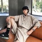 メンズ シャツ パンツ つなぎ ショートパンツ 半袖 韓国