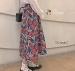 【即日発送】花柄ロングスカート