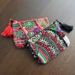 アップサイクル 刺繍ミニポーチ