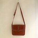 Yves Saint Laurent logo stitch leather shoulder bag