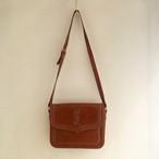 Yves Saint Laurent logo stitch leather shoulder bag