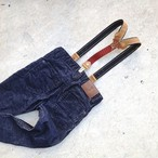 Kids Leather Suspenders -Fox-