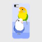 iPhoneケース コザクラインコ オレンジフェイスオパーリン&ホワイトフェイスコバルトバイオレット【各機種対応】