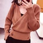 【tops】スリムセレブリティ女っぽさvネックセーター 23015196