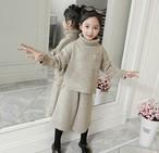 (KIDS)ニットツーピース 子供服 キッズ キッズウェア 韓国ファッション