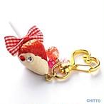 【CHITTO】na0112217  イチゴキーホルダー(ホワイト)