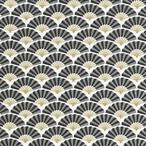 【Paper+Design】バラ売り2枚 ランチサイズ ペーパーナプキン SILK PATTERN ブラック
