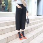 ファーポケットスカート(ブラック)