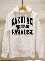 【予約商品】RAKUGAKI PARADISE UNIVERSITY Main Logo Pull Over Parka White