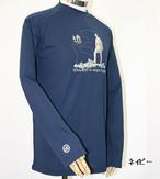 PE-701M秋冬メンズロングラグランスリーブTシャツ(ネイビー)
