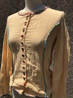 cotton color stitch&botton long sleeve