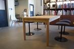 ウィスキー樽 オーク材 オークタモ脚 ダイニング テーブルW1800*D800*H710 LESS×別子木材コラボモデル【材料限定オーダー製作・送料無料&設置組立サービス付き!】特別な一台をお届け致します。