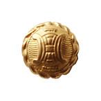 【VINTAGE  CELINE BUTTON】ゴールドフレーム ミニ ロゴボタン