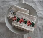 ALDIN 刺繍cloth  青い鳥/赤い実/ヴァカンス/ツバメ