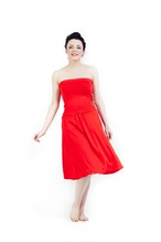 TRAVEL DRESS RED