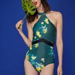 【タイ人気ブランド】Coralist Swimwear ハイネックワンピース Tia Citrus