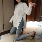 【tops】個性切り替えスリックカジュアルTシャツ22752678