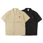 One Family Co. / Open Color Shirt / Red Chili