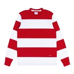 Nautical Rugby Crewneck(White/DarkRed)