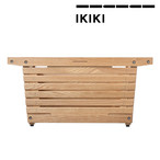 IKIKI(イキキ) シェルフコンテナ Mサイズ オーク 天然木材 木製 機能コンテナ 組み立て 折りたたみ ノックダウン方式 除湿効果 通気性 収納 アウトドア キャンプ