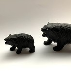 60's Russian Vintage WoodCarving Pair Bear _01(60's ロシア 木彫りのクマの親子)