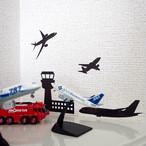 【送料82円】管制塔&飛行機ウォールステッカー