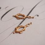 ヴィンテージ 真鍮製、セッティングにもなるヴィクトリアンスタイルチャーム(2コ)