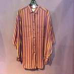 purple×ocher stripe shirt [B1402]