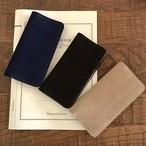 英国スエード革 スーパーバックのiPhoneケース ポケット付き/本革/スマホケース/手帳型ケース iPhone全機種より選択可